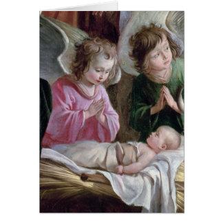 La natividad, del altar de Buxtehude, 1400-10 Tarjeta De Felicitación