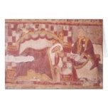 La natividad, del coro tarjeta de felicitación