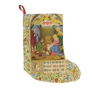La natividad el   a usted nace este día calcetín de navidad pequeño