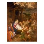 La natividad en la noche, 1640 postal