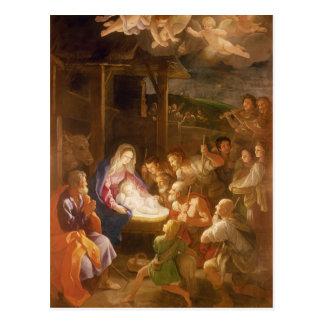 La natividad en la noche, 1640 tarjeta postal