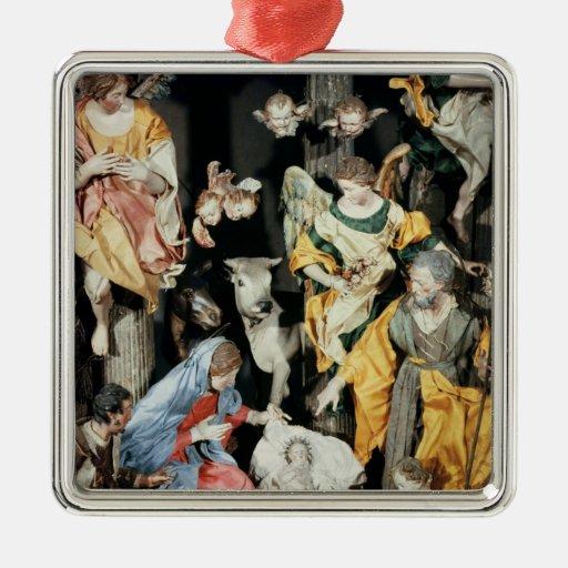 La natividad, hecha en Nápoles Ornato