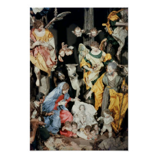 La natividad, hecha en Nápoles Póster