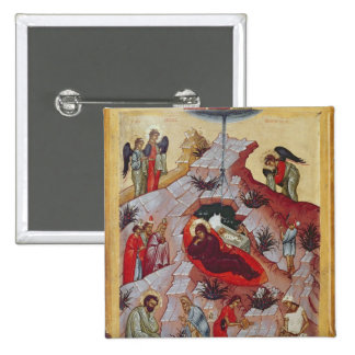 La natividad, icono ruso, siglo XVI Pin Cuadrado