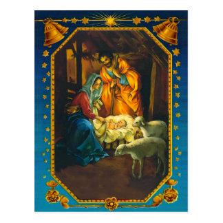 La natividad, la Maria, el José y el bebé Jesús Tarjeta Postal