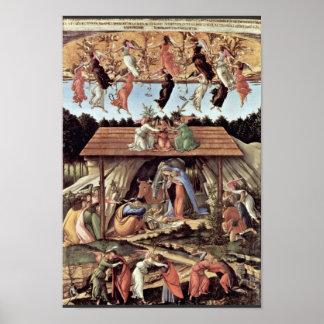 La natividad mística del místico de la natividad póster