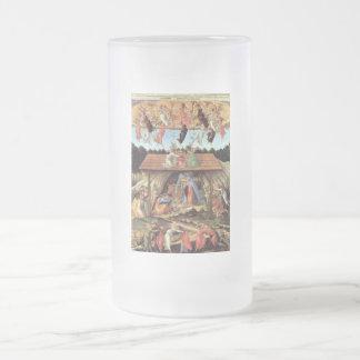 La natividad mística taza de cristal