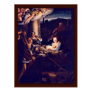 La natividad por Correggio Postal