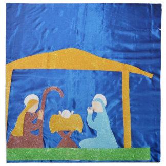 La natividad servilletas imprimidas