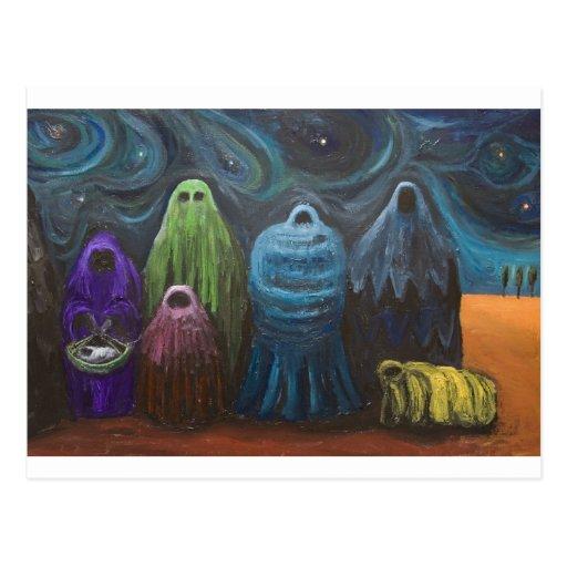 La natividad (surrealismo del tema del postal