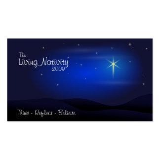 La natividad viva tarjetas de visita