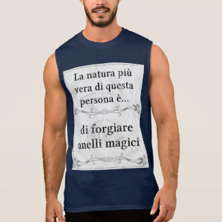 La natura più vera: forgiare anelli magici sleeveless shirt