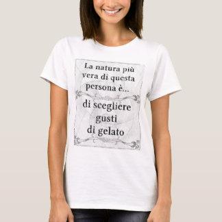 La natura più vera gelato gusti scegliere mangiare T-Shirt