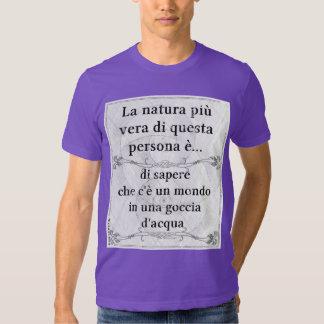 La natura più vera... goccia acqua vita biologia t shirt
