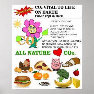 La naturaleza ama el CO2 Póster