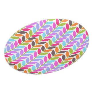 La naturaleza colorida sale de la melamina plato de cena
