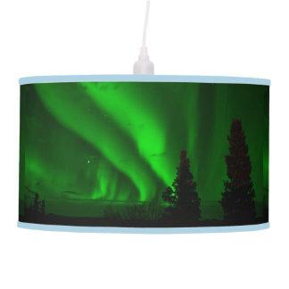 La naturaleza de los árboles de la aurora boreal lámpara de techo