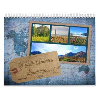 La naturaleza de Norteamérica ajardina el Calendarios De Pared