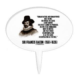 La naturaleza de sir Francis Bacon que se ordenará Figuras Para Tartas