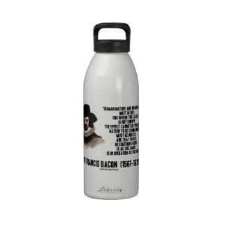 La naturaleza de sir Francis Bacon que se ordenará Botellas De Beber