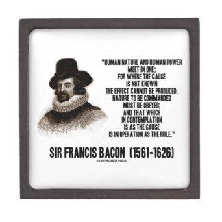 La naturaleza de sir Francis Bacon que se ordenará Caja De Recuerdo De Calidad