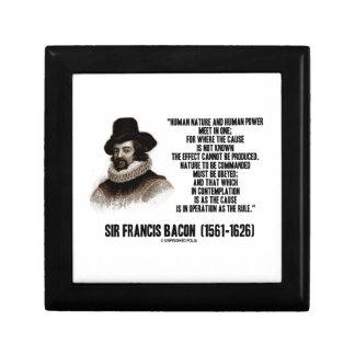 La naturaleza de sir Francis Bacon que se ordenará Cajas De Recuerdo