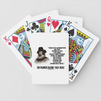 La naturaleza de sir Francis Bacon que se ordenará Baraja Cartas De Poker