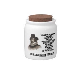 La naturaleza de sir Francis Bacon que se ordenará Platos Para Caramelos