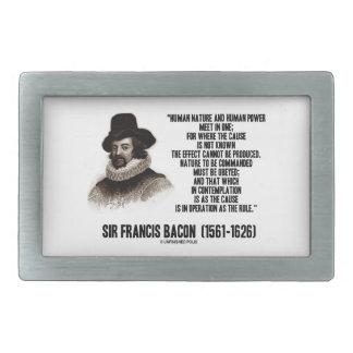 La naturaleza de sir Francis Bacon que se ordenará Hebillas Cinturon Rectangulares