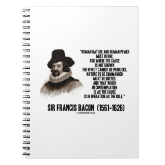 La naturaleza de sir Francis Bacon que se ordenará Cuaderno