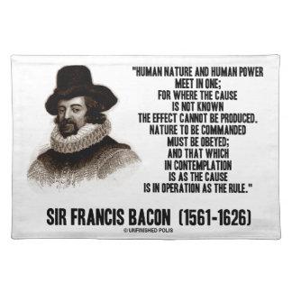 La naturaleza de sir Francis Bacon que se ordenará Manteles