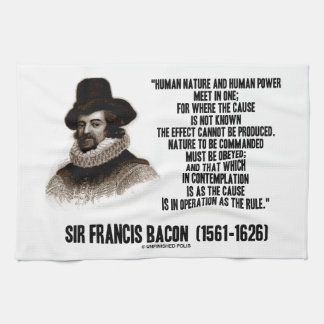 La naturaleza de sir Francis Bacon que se ordenará Toallas