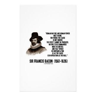 La naturaleza de sir Francis Bacon que se ordenará Papeleria