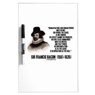 La naturaleza de sir Francis Bacon que se ordenará Tablero Blanco