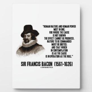 La naturaleza de sir Francis Bacon que se ordenará Placas De Plastico