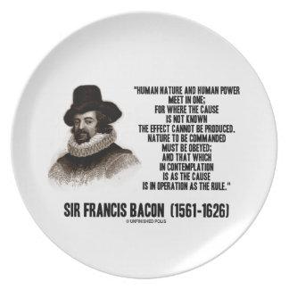 La naturaleza de sir Francis Bacon que se ordenará Platos De Comidas