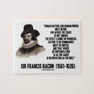 La naturaleza de sir Francis Bacon que se ordenará Puzzles Con Fotos