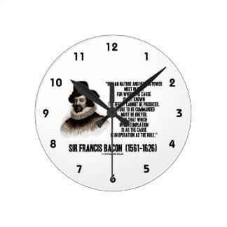La naturaleza de sir Francis Bacon que se ordenará Relojes
