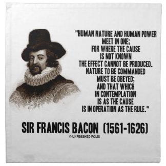 La naturaleza de sir Francis Bacon que se ordenará Servilleta De Papel