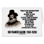 La naturaleza de sir Francis Bacon que se ordenará Tarjeton