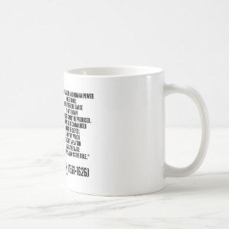 La naturaleza de sir Francis Bacon que se ordenará Tazas De Café