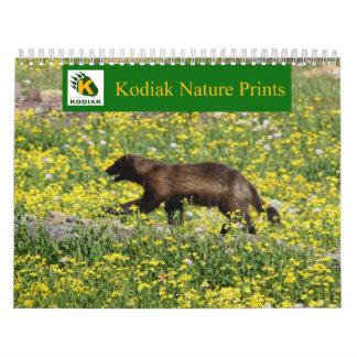La naturaleza del Kodiak imprime 2013 calendarios