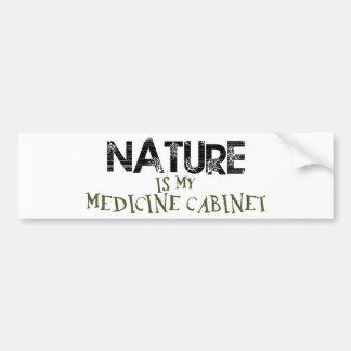 La naturaleza es mi botiquín pegatina de parachoque