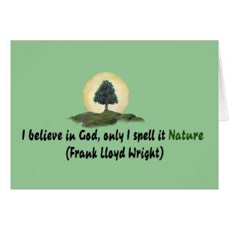 La naturaleza es mi dios felicitación