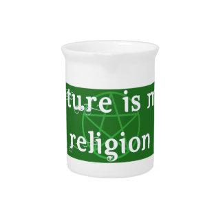 La naturaleza es mi jarra de la religión