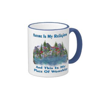 La naturaleza es mi religión taza