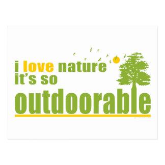 La naturaleza es tan Outdoorable Tarjetas Postales