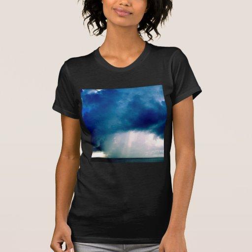 La naturaleza fuerza chaparrón camiseta