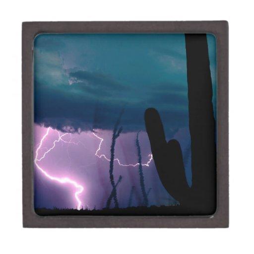 La naturaleza fuerza la tormenta de desierto cajas de regalo de calidad