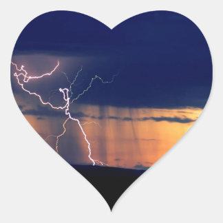 La naturaleza fuerza la tormenta Zion delantero Pegatina En Forma De Corazón